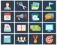 Office flat icons Royalty Free Stock Photography