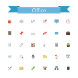 Office Flat Icons Royalty Free Stock Images
