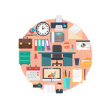 Office Flat Illustration Royalty Free Stock Photo
