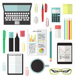 Office flat stationery  Stock Photography