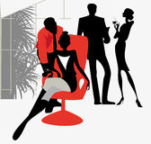Office flirt Stock Image