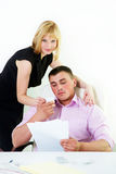 Office flirt Royalty Free Stock Photo