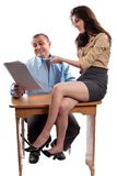 Office flirting Royalty Free Stock Image