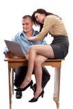 Office flirting stock photos