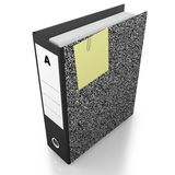 Office folder with clip and postit note Royalty Free Stock Photography