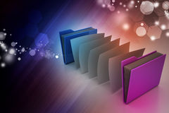 Office folder with documents Royalty Free Stock Photo