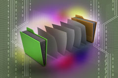 Office folder with documents Royalty Free Stock Image