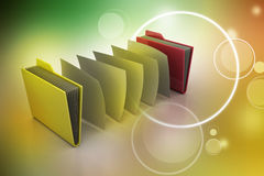 Office folder with documents Stock Photo