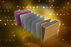 Office folder with documents. In color background Royalty Free Stock Photos