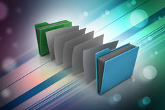 Office folder with documents Stock Images