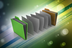 Office folder with documents Royalty Free Stock Photography