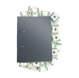 Office folder full of dollars Stock Images