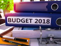 Office Folder with Inscription Budget 2018. Stock Photography
