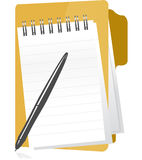 Office folder and notepad Royalty Free Stock Photo