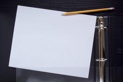 Office folder with plastic pocket Stock Photos