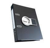 Office folder under electronic lock. On a white background Stock Photography
