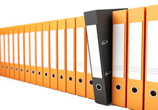 Office folders. On a white background Stock Photos
