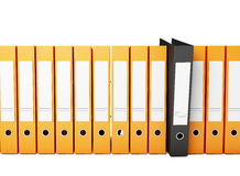 Office folders. On a white background Stock Images