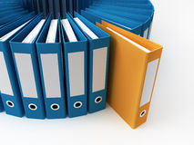 Office folders Royalty Free Stock Photos