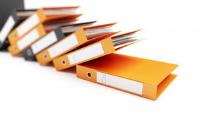 Office folders. On a white background Royalty Free Stock Image