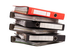 Office folders Stock Photography