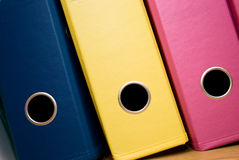 Office folders. Of different colors stock photo