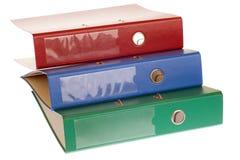 Office folders, binder. Office folders binder isolated on white Stock Photos