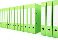 Office folders, binder 3d Illustrations Royalty Free Stock Images