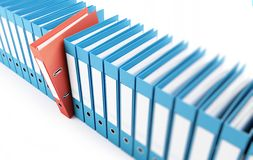 Office folders, binder 3d Illustrations Stock Photo