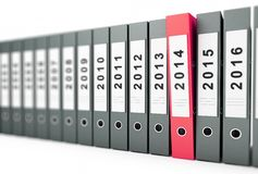 Office folders, binder  new year 2014 Royalty Free Stock Images