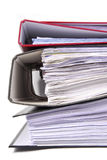 Office folders. Close up of the office folders Stock Photo