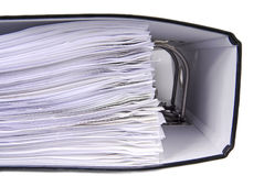 Office folders. Close up of the office folders Royalty Free Stock Image