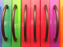 Office folders. Color office folders Royalty Free Stock Photos