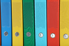 Office folders. The Colorful office folders background Royalty Free Stock Image