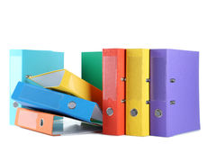 Office folders. Colorful office folders isolated on a white Royalty Free Stock Photos