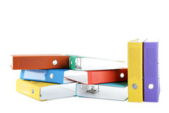 Office folders. Colorful office folders isolated on a white Stock Photos