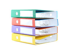Office folders. Colorful office folders isolated on a white Stock Images