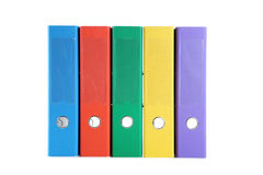 Office folders. Colorful office folders isolated on a white Royalty Free Stock Photo