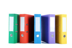 Office folders. Colorful office folders  on a white Stock Image