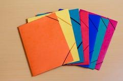Office folders on desk Stock Photography