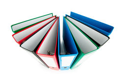 Office folders isolated on the white Royalty Free Stock Photography