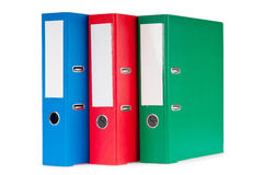 Office folders isolated on the white. Background Stock Image