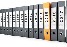 Office folders new year 2015 Royalty Free Stock Images