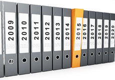 Office folders new year 2015 Stock Images