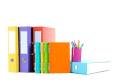 Office folders with notebooks Royalty Free Stock Photo