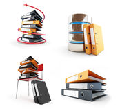 Office folders, Protect folder on a white background 3D illustration Stock Images