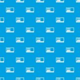 Office folders on the shelf pattern seamless blue. Office folders on the shelf pattern repeat seamless in blue color for any design. Vector geometric Stock Photos