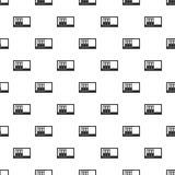 Office folders on the shelf pattern vector. Office folders on the shelf pattern seamless in simple style vector illustration Royalty Free Stock Photos