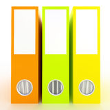 Office folders  on white. 3D Rendered office folders over white background Royalty Free Stock Photo