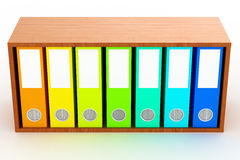 Office folders  on white. 3D Rendered office folders over white background Royalty Free Stock Images